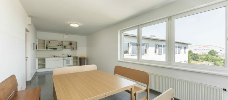 shared kitchen | Ernst Höger Dormitory 2700 Wiener Neustadt