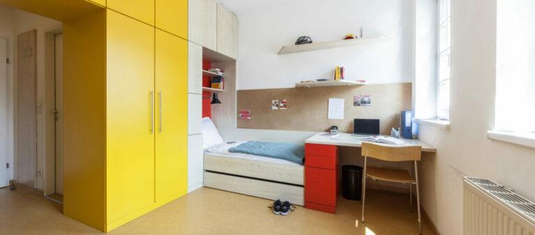 Zweibettzimmer | Studierendenwohnheim Säulengasse 1090 Wien