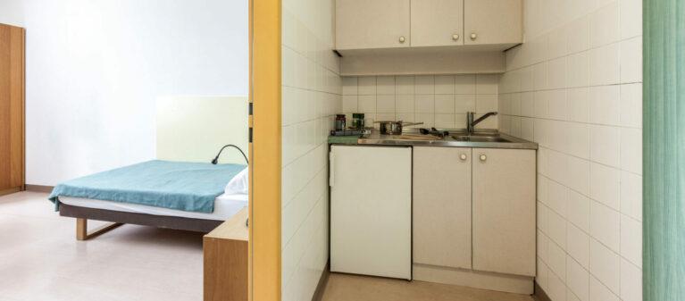 kitchen in room | Dr. Hertha Firnberg Dormitory 1200  Vienna