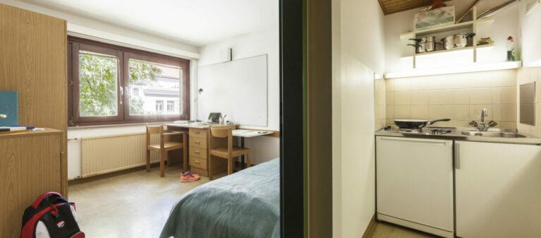 Küche mit Zimmer im Verbund | Studierendenwohnheim Starkfriedgasse 1180 Wien
