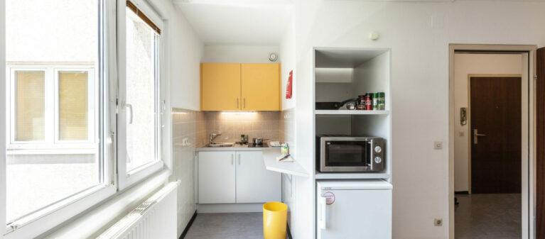 Küche im Zimmerverbund | StudentInnenwohnhaus Tendlergasse 1090  Wien