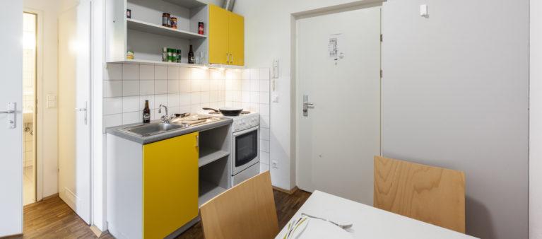 Küche im Zimmer | Studierendenwohnhaus St. Pölten 3100 Sankt Pölten