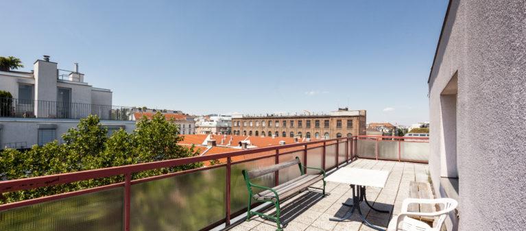 Dachterrasse | StudentInnenwohnhaus Tendlergasse 1090  Wien
